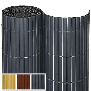 Sol Royal PVC Sichtschutz SolVision P14 - PVC Sichtschutzmatte Balkon &  Terrasse 80 x 400 cm Anthrazit Sichtschutzzaun Balkon Sichtschutz