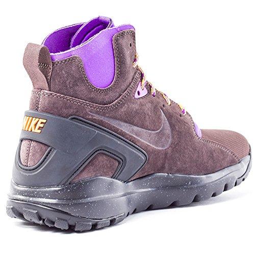 Nike Mobb Ultra Mid, Baskets hautes homme Marron / violet / noir (intense / intense - orange laser)