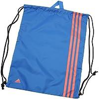 b01f94a5b3 adidas Unisex 3 Stripe Gymsack Sports Gym Bag Sack Case Holdall Caryall  BlueBeauty Red One