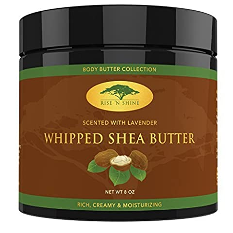 (226g) Lavender Whipped African Shea Butter Cream - Pure 100%