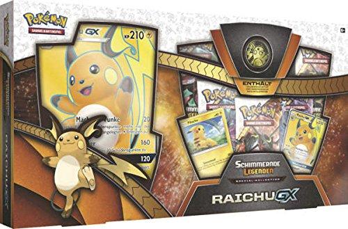 Pokémon Pokemon 25978 Company International PKM SM03.5 Raichu-GX Box - Buch Münzen Seltene