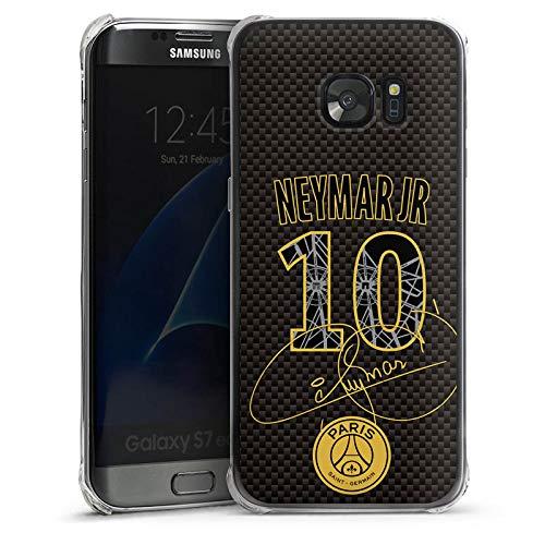DeinDesign Hülle kompatibel mit Samsung Galaxy S7 Edge Handyhülle Case Paris Saint-Germain Neymar Fans PSG Galaxy Case Fan