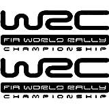 Indiashopers Vinyl WRC Car Sticker, 19 x 7 cm, Black