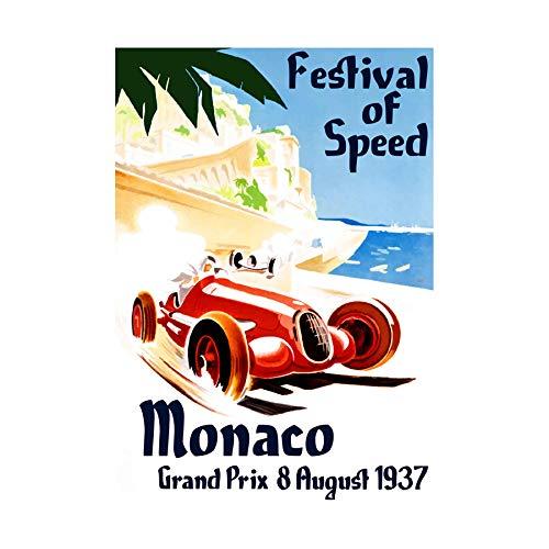 Wee Blue Coo Ad Grand Prix Car Festival of Speed Monaco Picture Wall Art Print Grande Immagine Parete