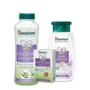 Himalaya Refreshing Care Combo, Baby soap 125g, Prickly Heat Powder 200g and Baby Bath 100ml Combo