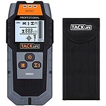 Detector de Pared, Tacklife DMS03 Detector de Metal, Madera y AC Cable, Escáner de Pared Clásico y Multifuncional, Retroiluminación LCD, Indicación de Distancia, Lleva una Bolsa