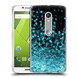 Head Case Designs Offizielle Monika Strigel Schwarz Aqua Magische Lichter Soft Gel Hülle für Motorola Moto X Play