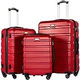 COOLIFE Hartschalen-Koffer Trolley Rollkoffer Reisekoffer Handgepäck Suitcase Luggage 20Zoll 24 Zoll 28Zoll 3 Stück Set