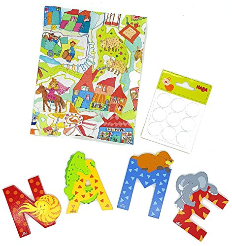 Preisvergleich Produktbild 7 Sevi Holzbuchstaben Tiere für Wunschname inkl Geschenkverpackung Türbuchstaben Kinderbuchstaben Holz Dekobuchstaben (7 Holzbuchstaben)