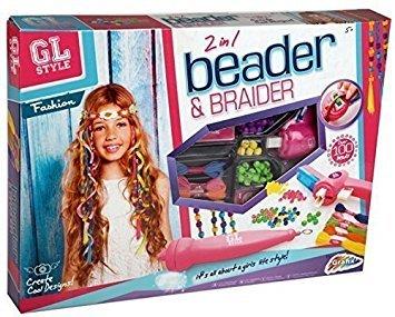 GL Style 2-In-1 Beader Braider Haar Mädchen Perlen Braiding Set Kinder Mode Spielzeug
