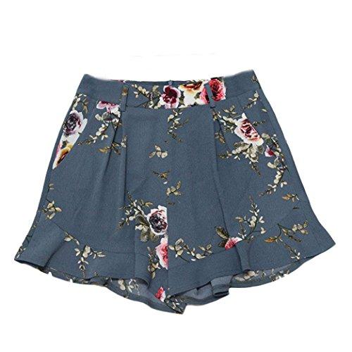 Hosen Damen Kolylong® Frauen Sommer gedruckt hohe Taille kurze Hosen Hot Pants lose Strand Shorts Sporthosen Yoga-Hose weite bein hose (S, (Girl Kostüme Bohemian)
