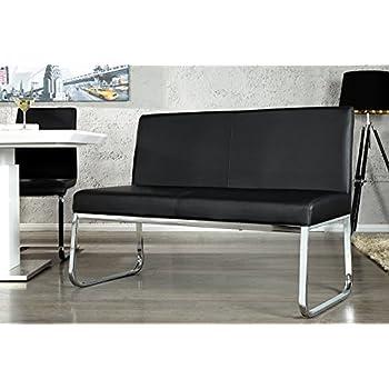elegante design sitzbank hampton mit r ckenlehne schwarz 120 cm k che haushalt. Black Bedroom Furniture Sets. Home Design Ideas