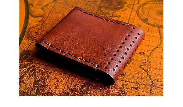 6481d784c02 Portefeuille homme Maroquinerie homme fait main marron Cadeau original de  design  Amazon.fr  Cuisine   Maison