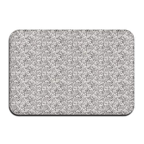 4' Grapevine (Nacasu Memory Foam Bath Mat Non Slip Absorbent Super Cozy Plush Bathroom Rug Carpet,Artistic Hand-Drawn Grapevine Pattern with Bulky Leaves Digital Image,Decor Door Mat 23.6 X 15.7 Inches)