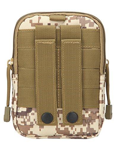 Menschwear Multipurpose Taktische Tasche Gürtel Taille Pack Tasche Military Taille Fanny Pack Telefon Tasche Gadget Geld Tasche Tarnung 10 Tarnung 10