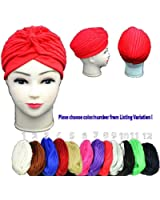 SystemsEleven Fashion Turban Hair-Style Indian Style Bandana Ladies Chemo Head Cover Hat Cap