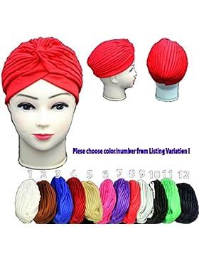 SystemsElevenTurbante para la cabeza, peinado moderno, estilo indio Bandana, ideal para quimioterapia, para mujer...