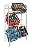 Flaschenkastenständer 6 Kästen Kastenständer Getränke-Kästen Ständer Getränkelagerung B/T/H 65x31x115 cm Weiß