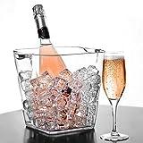 Glacier Acrylique Tour Vin Seau à champagne–Plastique Cooler boissons Seau Party Tub