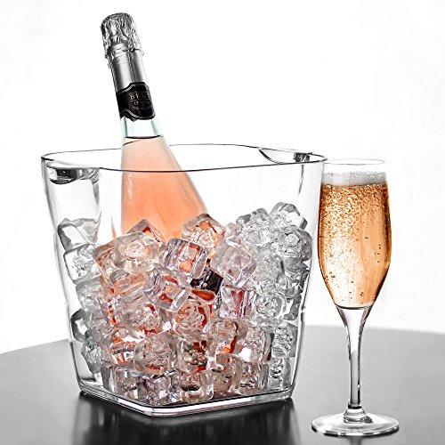 Gletscher Acryl Tower Wein Eimer–Kunststoff Champagner Kühler Getränke, die Sie Party Badewanne