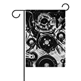 MUMIMI Big Block Motor Dekorative doppelseitig Garden Flagge 12x 18(in)