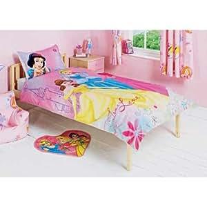 """Kinder Bettwäsche """"Disney Prinzessinnen"""", Kissen- und Deckenbezug (mit passender Brotdose) (Einzelbett) (wie abgebildet)"""