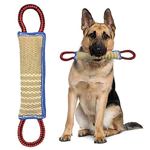 ReTink Hund Bite Kauknochen Zerrspielzeug Spielzeug mit 2 Griffe für Training Sport Interaktion Zerren Außerhalb - 30cm -