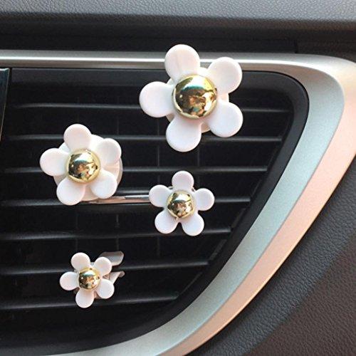 TAOtTAO, diffusore di profumo per auto a forma di fiore con clip per agganciarlo alle presa d'aria. Whit