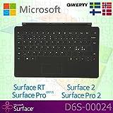 Microsoft Surface RT / Pro (2012) / 2 / Pro 2 skandinavische QWERTY-Tastatur mit Touch-Schutzhülle ohne beleuchtete Tasten, OEM-Verpackung, Schwarz (keine Einzelhandelsverpackung)