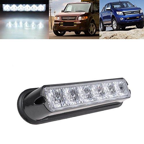 League & Co universel 3 couleurs 6 LED flash lampe d'avertissement avant Blitzer Flash Light Lumière d'avertissement pour voiture camion Strobe SUV