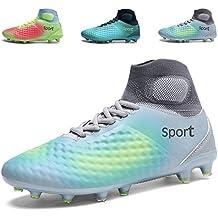 TUCSSON FG/AG Botas de Fútbol Zapatillas de Fútbol Unisex-adulto/niños(EU tamaño 39-45)