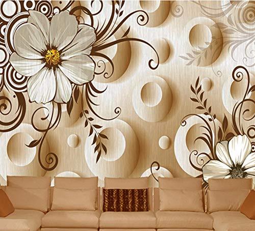 Rureng Hd Moderne Blume Wandbilder Tapete 5D Wandbild Für Wohnzimmer Tv Sofa Hintergrund 3D Foto Wandbild 3D Wandfresko-280X200Cm