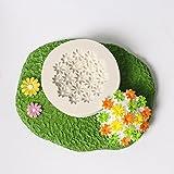 Kxnet 1PC silicone 3D torta utensili Bakeware cioccolato glassa biscotto decorazione con fiore Modelling Mold Mould Sugar Craft decorazione fondente strumenti di cottura, colore casuale C