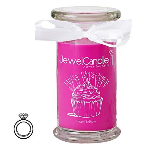 JewelCandle candela profumata - Happy Birthday - Anello Classic | sorpresa in argento dal valore fino a