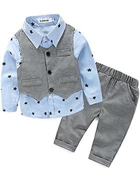 Das beste Jungen Kinder Baby Gentleman Herbst Kleidung des Babys Taufe Hochzeit Sakkos Anzüge Hemd (0-24M)