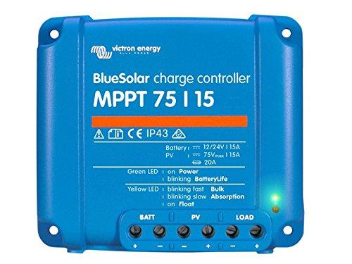 Victron Energy BlueSolar MPPT 75/15 12V 24V 15A, 1 Stück, 8719076025320 Mppt-controller