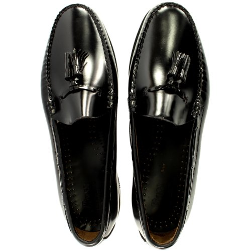 Hommes G.H. Basse Larkin Flânr Gland Cuir Chaussure Nouveau Tailles Noir