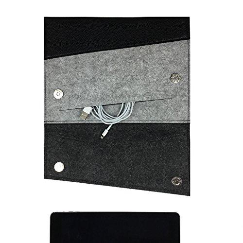 Premium Case Tasche Hülle für Tablet, Laptop, Netbook wie Apple iPad 2 3 4 5 Air: Innenmaß: 24x16,95cm Außenmaß: 27x19,5cm