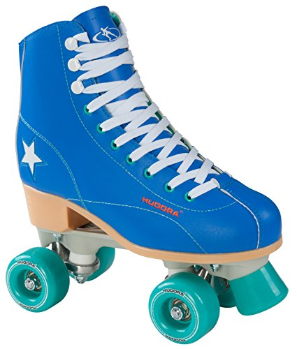 Hudora Disco Rollerskates Unisex Rollschuh, Blau/Grün, 37, 13193