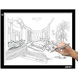 AGPTEK A3 Tableta de Luz, Drawing Pad Ultradelgada, Mesa de Luz de Dibujo LED con Panel Táctil Inteligente y Interfaz USB para Artistas, Dibujo, Animación - 47 cm x 37 cm