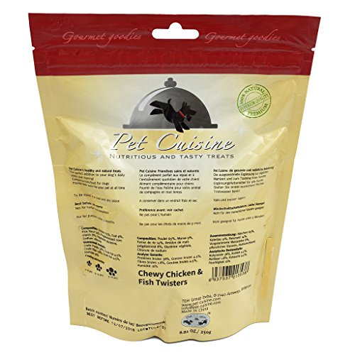 Pet Cuisine Hundeleckerli Hundesnacks Welpen Kausnacks, Hühnerfleisch & Fisch Kaustangen, 250g Test