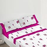 Burrito Blanco - Juego de sábanas 441 para cama 150x190/200 cm, color rosa