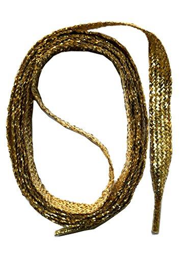 SNORS flache Schnürsenkel GOLD 130cm, 7-8mm, reißfest, Polyester, Made in Germany für Sportschuhe Sneaker Turnschuhe und Laufschuhe - ÖkoTex (Sneaker In Gold)