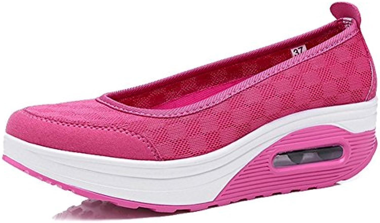 Blivener BlivenerCasual - Plataforma Mujer, Color Rosa, Talla 36