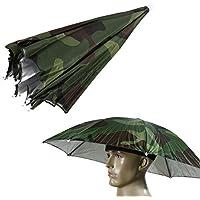 Broadroot Sombrero de Paraguas Protable, Tamaño único, Sombrero DE 65 cm para Festivales al Aire Libre, Camping, Pesca, Senderismo, Camuflaje