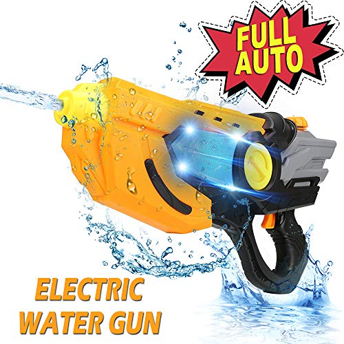 AnseeDirect Pistolet A Eau Electrique Fusil À Eau Grande Capacité Longue Portée avec Lumière LED pour Enfant...