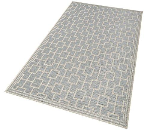 Dehner–Alfombra, en de alfombra de caza y Bay, polipropileno, gris/beige, 165x 115x 1cm, 3728466