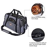 Lalawow Transporttasche für Haustiere Die Fluggesellschaft Genehmigt Weich-Seitig für Kleine Hunde Katzen (Grau) - 3