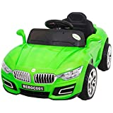 Baybee BWM Battery Operated Ride On Car for Kids with Music, Horn, Headlights with 30Kg Weight Capacity - Green