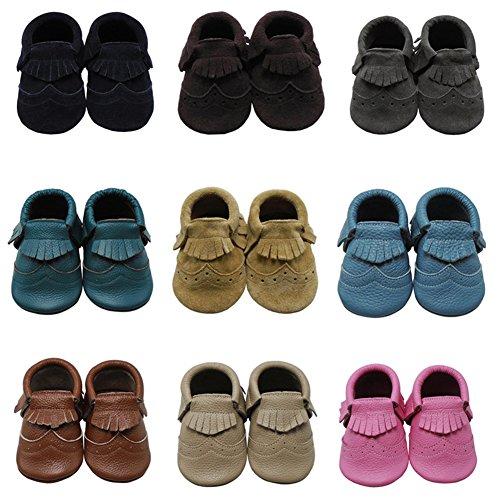 Mejale Chaussons Cuir Souple Chaussures Cuir Souple Chaussons enfants pantoufles Chaussures Premiers Pas bleu marin 1